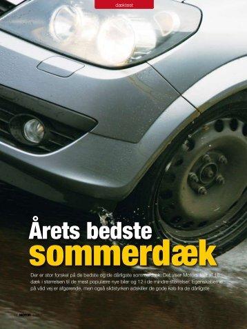 Dæktest: Årets bedste sommerdæk (4-2007) - FDM