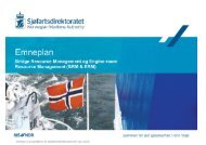 Emneplan for BRM og ERM opplæring.pdf - Sjøfartsdirektoratet