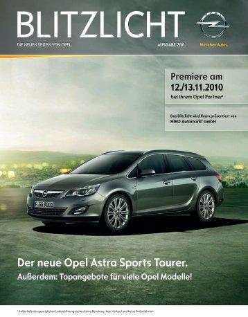 Der neue Opel Astra Sports Tourer. Außerdem: Topangebote für - Hiro