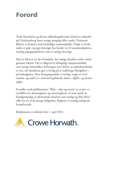 Download PDF: Biler - Skat og Moms 2011 - 2012 - Crowe Horwath ...