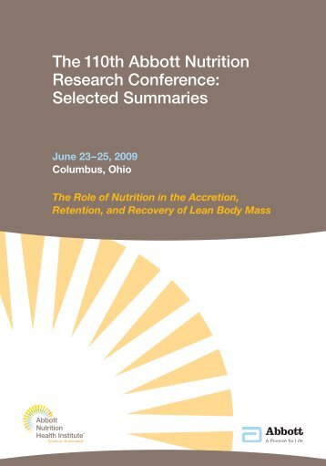 The 110th Abbott Nutrition Research Conference: Selected ...