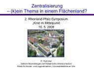 Zentralisierung - (k)ein Thema in einem Flächenland - Früh- und ...