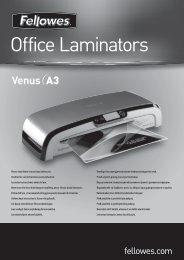 Venus A3 Handleiding - Fellowes