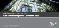 Real Estate Management Conference 2012 - FH Kufstein Tirol
