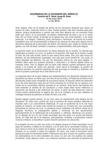 Domingo xiii del tiempo ordinario c abadia de montserrat - Tiempo olesa de montserrat ...