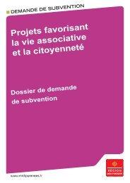 Projets favorisant la vie associative et la citoyenneté - Région Midi ...