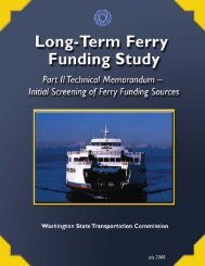 Long-Term Ferry Funding Study - Washington State Transportation ...