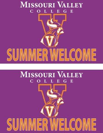 Summer Welcome - Missouri Valley College