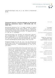 Statsforvaltningens brev af 2. juli 2010 til Kerteminde Byråd ...