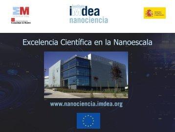 Presentación IMDEA - Fundación Prodintec