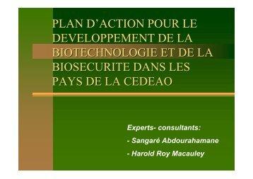 plan d'action pour le developpement de la ... - Union africaine