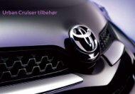 Urban Cruiser tilbehør - Toyota