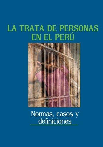 La TraTa de Personas en eL Perú - Ministerio del Trabajo y ...