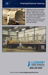 Pickling/Chemical Cleaning - Allegheny Bradford Corporation