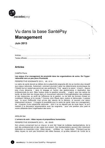 Management - Ascodocpsy