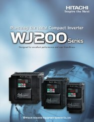 WJ200 Series Brochure - Hitachi America, Ltd.