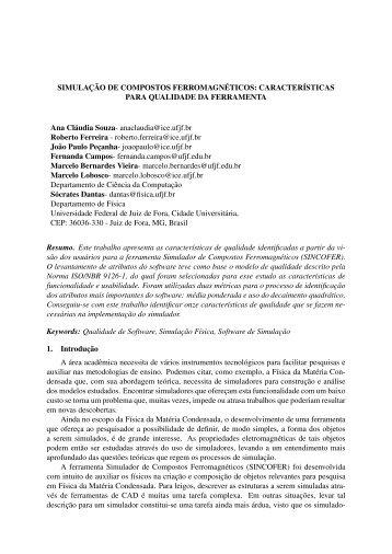 SIMULAÇÃO DE COMPOSTOS ... - GCG - UFJF