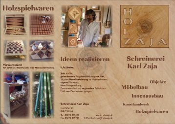 Holzspielwaren - Schreinerei Karl Zaja