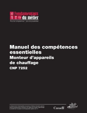 Manuel des compétences essentielles : Monteur d'appareils de ...
