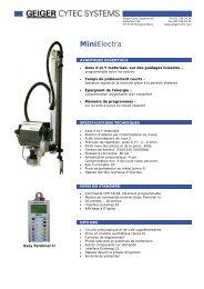 MiniElectra - Geiger Cytec Systems AG