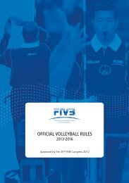 OFFICIAL VOLLEYBALL RULES - FIVB