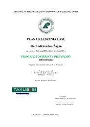 Program Ochrony Przyrody Nctwa Żagań - Państwowe ...