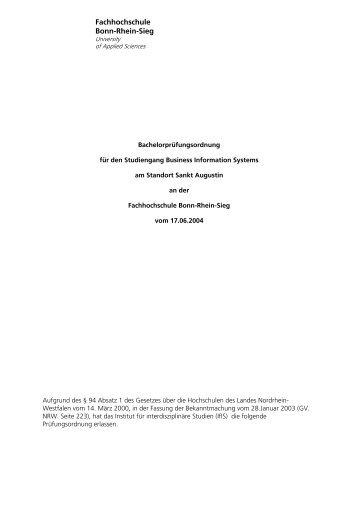 Prüfungsordnung - Fachbereich Informatik