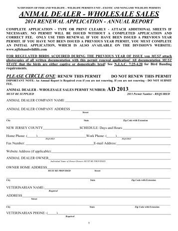 Commercial Preserve License Application Form - Division of Fish ...