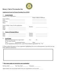 Download an Application Form for Project Funding for