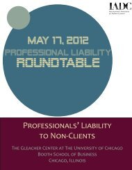 Professionals' Liability to Non-Clients - International Association of ...