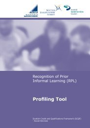 SSSC RPL Profiling Tool - Scottish Credit and Qualifications ...