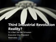 Third Industrial Revolution Reality?