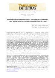 """Interdiscursividade e intertextualidade no gênero """"contrato das ..."""