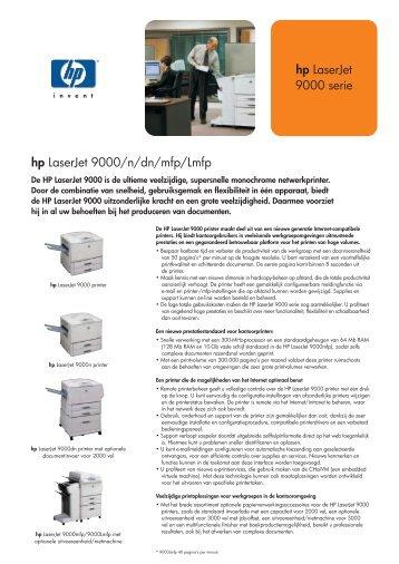 hp LaserJet 9000 serie hp LaserJet 9000/n/dn/mfp/Lmfp - Nts