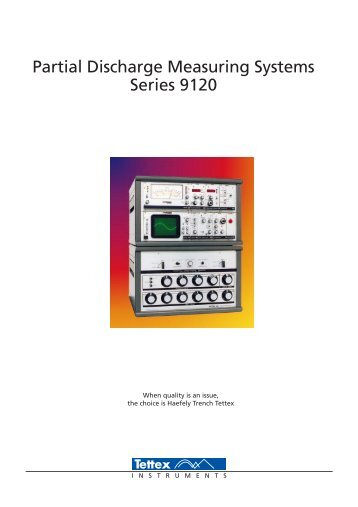Partial Discharge Measuring Systems Series 9120 - Haefely Test AG