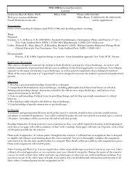 PSYC 5780 A Fall 2007 Instructor: Kurt D. Baker, Ph.D. Office: C236 ...