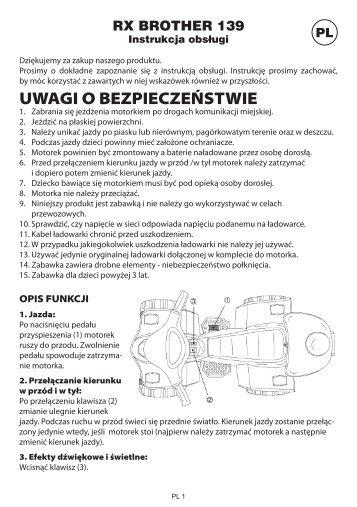Instrukcja obsługi - TV Products