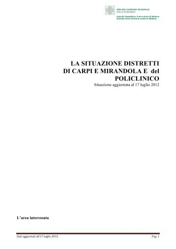 Scarica il documento aggiornato al 17 luglio 2012 - CGIL Modena