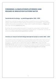 og PhD projekter, incl Vand i Byer projekter - Forskningsplatformen