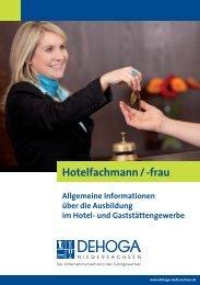Hotelfachmann / -frau - DEHOGA Niedersachsen