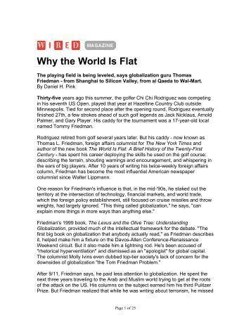world is flat review World is flat a brief history of the twenty first century updated & expanded edition by thomas friedman available in hardcover on powellscom, also read synopsis and.