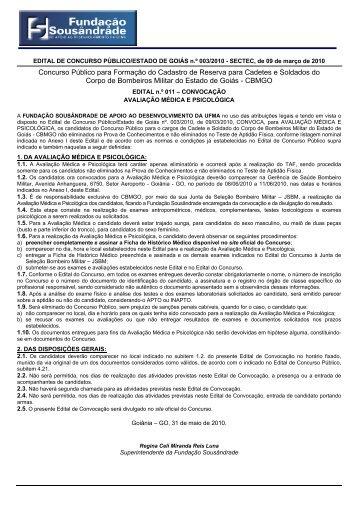 Convocação Avaliação Médica e Psicológica - Fundação ...