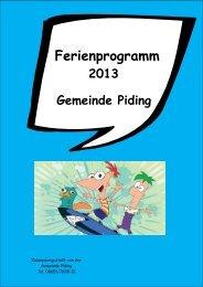 Ferienprogramm 2013 - Gemeinde Piding