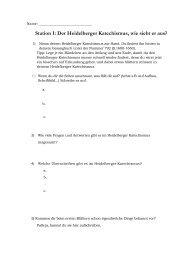 Arbeitsblätter - Heidelberger Katechismus