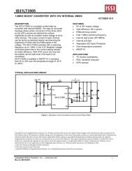 IS31LT3505 - Integrated Silicon Solution, Inc
