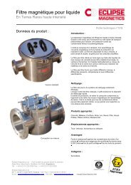 Filtre à liquide pdf - Eclipse Magnetics
