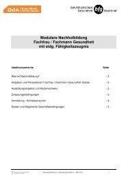 Modulare Nachholbildung Fachfrau / Fachmann ... - OdA Gesundheit