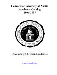 Course Catalog 2006-2007 - Concordia University