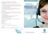 Fachfrau / Fachmann Kundendialog - Cablecom GmbH