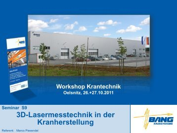 3D-Lasermesstechnik in der Kranherstellung - BANG Kransysteme